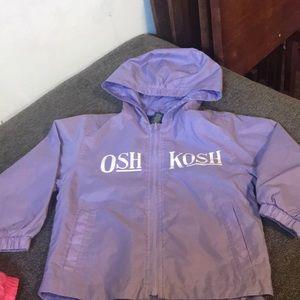 Purple osh kosh rain jacket